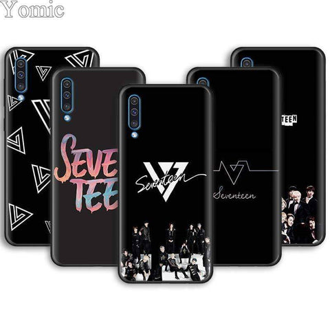 Kpop Merchandise Online Phone Case Soft Phone Cases for Samsung Galaxy A10 A20 A30 A40 A50 A70 A6 A7 A8 Plus A9 A01 A51 A71 A90 Seventeen