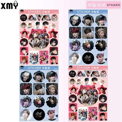 Kpop Merchandise Online Stationery Stray Kids 4 Sets of Stickers