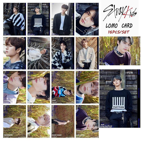 Official Kpop Merchandise Online 🥇 Photocards Stray Kids Merch - 16x LEVANTER Photocards