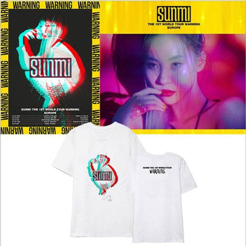 Official Kpop Merchandise Online 🥇 Clothing Sunmi Warning T-shirt
