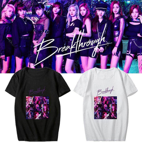 K-pop Fashion TWICE Breakthrough Short Sleeve T-shirt
