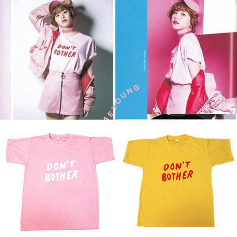 K-pop Fashion TWICE CHAEYOUNG DON'T BOTHER T shirt
