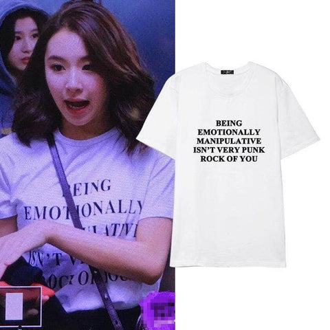 K-pop Fashion TWICE Son Chae Young Alphabet T shirt