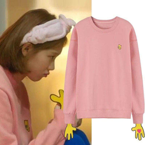 IDOLS FASHION SWEATER WEIGHTLIFTING FAIRY KIM BOK JOO LEE SUNG KYUNG THE SIMPSONS SWEATER