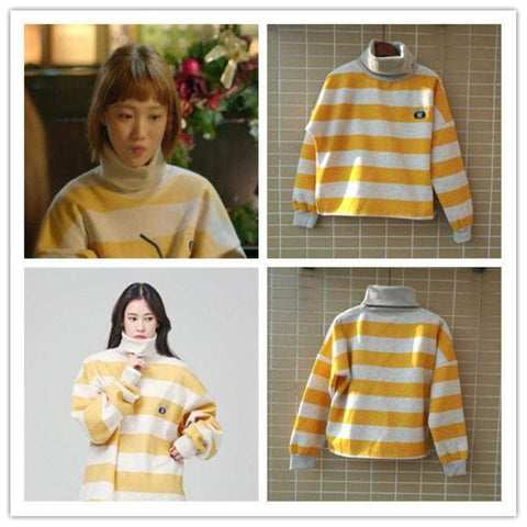 Official Kpop Merchandise Online 🥇 Clothing Weightlifting Fairy Kim Bok-Joo Oversized Turtleneck