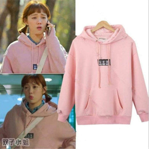 Official Kpop Merchandise Online 🥇 Clothing Weightlifting Fairy Kim Bok-Joo Pink Sweatershirt + Hoodie