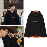 IDOLS FASHION HOODIE WHILE YOU WERE SLEEPING LEE JONG SUK SCRIBBLE HOODIE