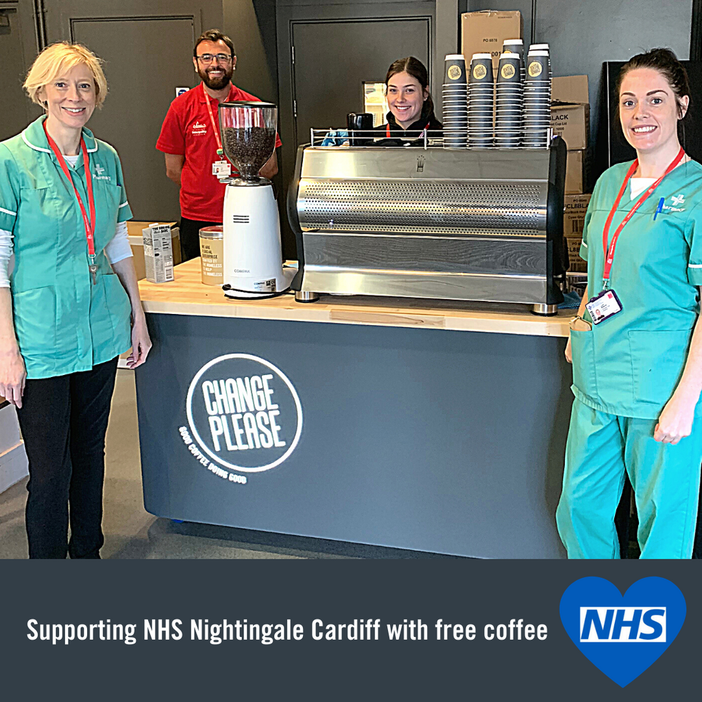 Supporting our NHS in Cardiff with Free Coffee