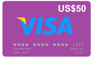Visa VCC Gift Card US$50
