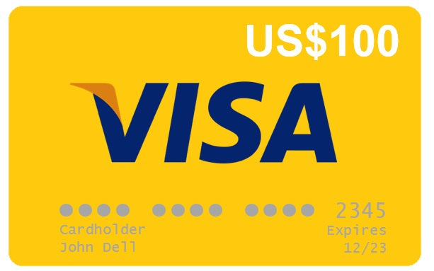 Visa VCC Gift Card US$100
