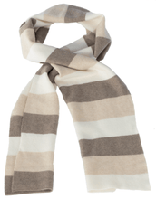 Load image into Gallery viewer, Striped Scarf | Natural Colors | Purl Stitch