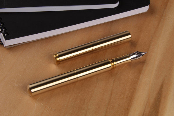 "Brass ""Pocket Six"" Fountain Pens"