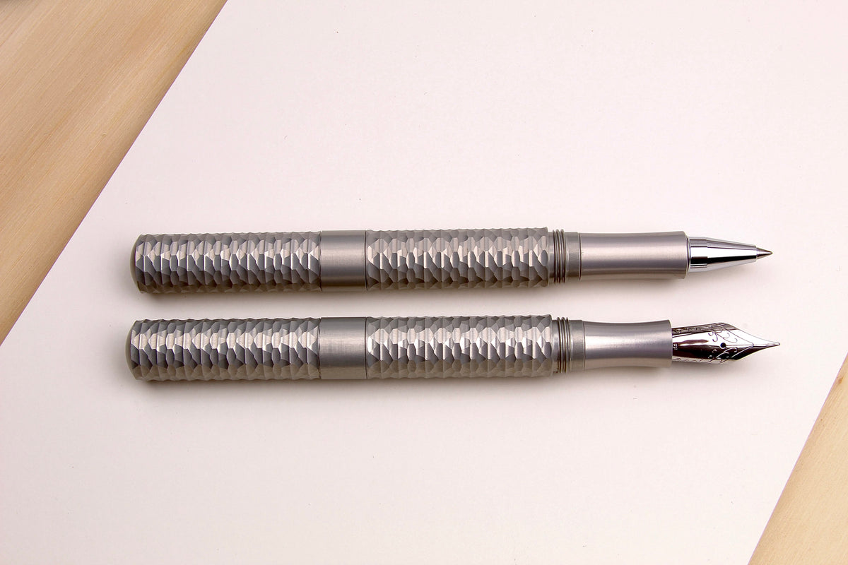 Faceted Aluminum Pocket Six Pens