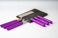 "Anodized Aluminum and Multicolor ""Pocket Six"" Fountain Pens"