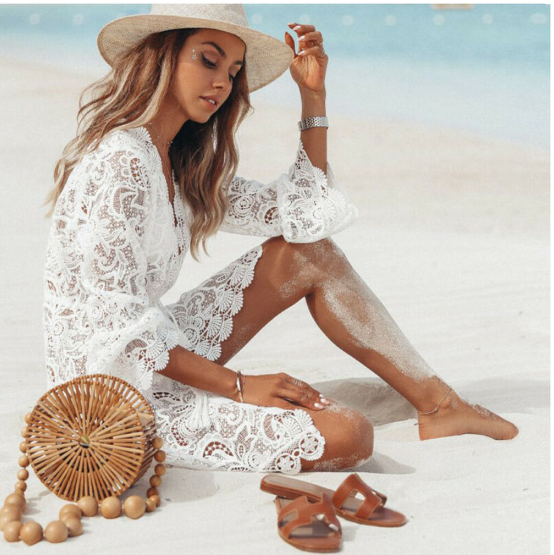 Sun-Shining Days Lace Cover-Up