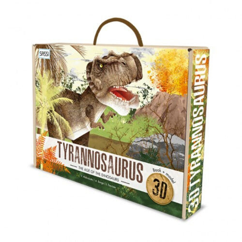 SASSI - THE AGE OF THE DINOSAURS - 3D Tyrannosaurus and Book Set