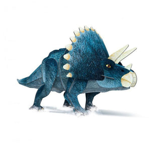 SASSI - THE AGE OF THE DINOSAURS - 3D Triceratops and Book Set