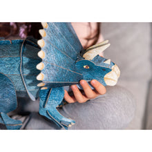 Load image into Gallery viewer, SASSI - THE AGE OF THE DINOSAURS - 3D Triceratops and Book Set