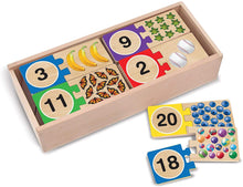 Load image into Gallery viewer, Numbers Wooden Puzzle Cards
