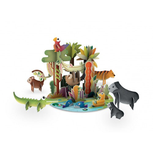 SASSI 3D JUNGLE PUZZLE AND BOOK