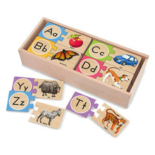 Load image into Gallery viewer, Alphabet Wooden Puzzle Cards