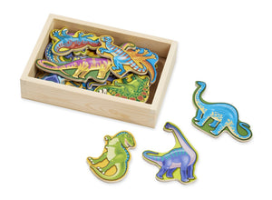 Dinosaur Magnets - Wooden box of 20