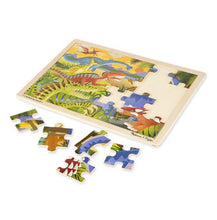 Load image into Gallery viewer, MELISSA & DOUG WOODEN JIGSAW PUZZLE - Dinosaurs