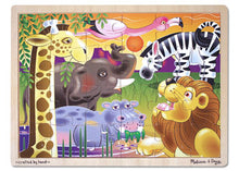 Load image into Gallery viewer, MELISSA AND DOUG WOODEN JIGSAW PUZZLE - African Animals