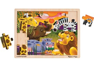 MELISSA AND DOUG WOODEN JIGSAW PUZZLE - African Animals