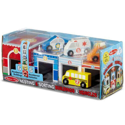 MELISSA & DOUG - Nesting & Sorting Building & Vehicles