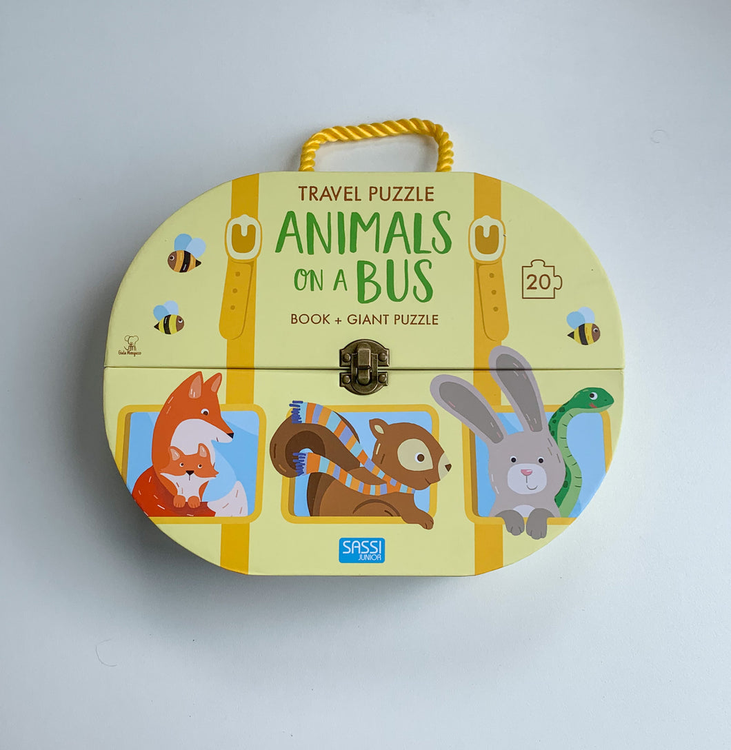 SASSI TRAVEL GIANT PUZZLE AND BOOK – ANIMALS ON A BUS