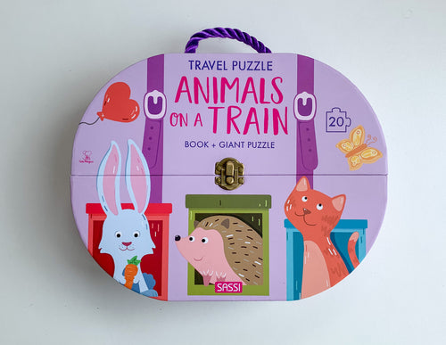 SASSI TRAVEL GIANT PUZZLE AND BOOK – ANIMALS ON A TRAIN