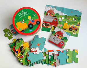 SASSI BOOK AND GIANT PUZZLE – FARM 30 pcs