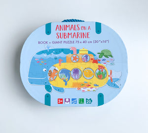 SASSI TRAVEL GIANT PUZZLE AND BOOK – ANIMALS ON A SUBMARINE