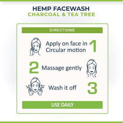 Cure By Design Hemp, Charcoal & Tea Tree Face Wash - Hempivate