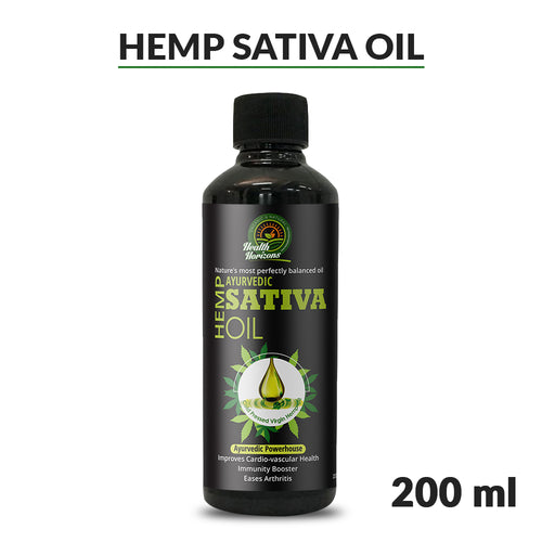 Health Horizons Ayurvedic Sativa Hemp Seed Oil 200ml Hempivate