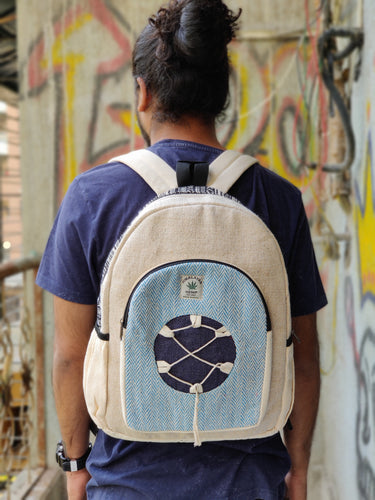 THC Braided blue Backpack