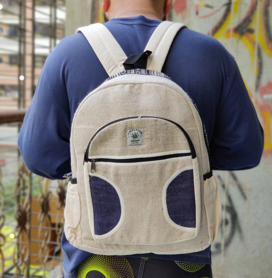 THC Blue Patch Hemp Backpack