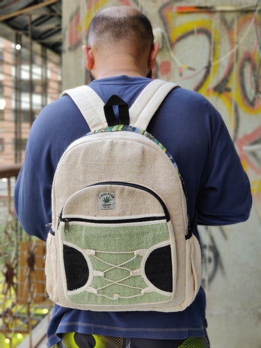 THC Green Braided Hemp Backpack
