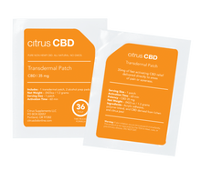 Load image into Gallery viewer, Citrus CBD Transdermal Patch