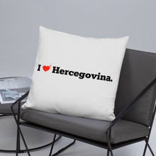 """Upload the picture in the gallery viewer, """"I love Hercegovina"""" - pillow"""