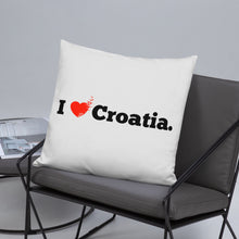"""Load the picture into the gallery viewer, """"I love Croatia"""" - pillow"""