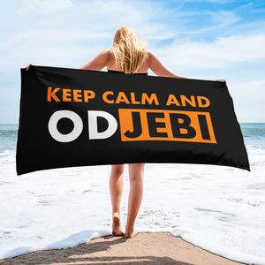 """Keep calm and odjebi"" - Strand - Handtuch"