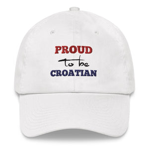 """Proud to be Croatian"" - Cap"