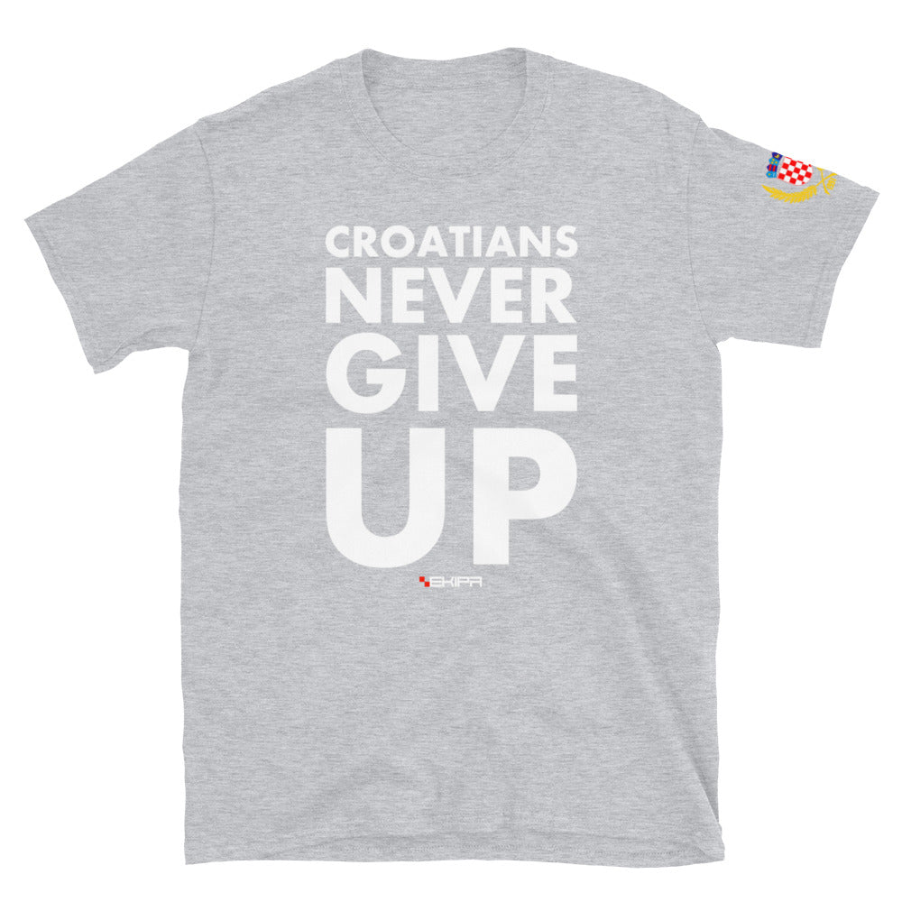 """""""Never give up"""" t-shirt"""