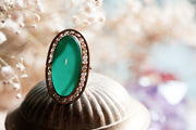 Vintage Jade Green Ring