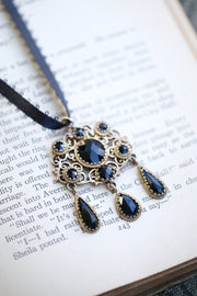 Victorian Era Black Enamel Necklace