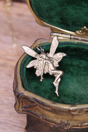 Antique Brass Fairy Necklace