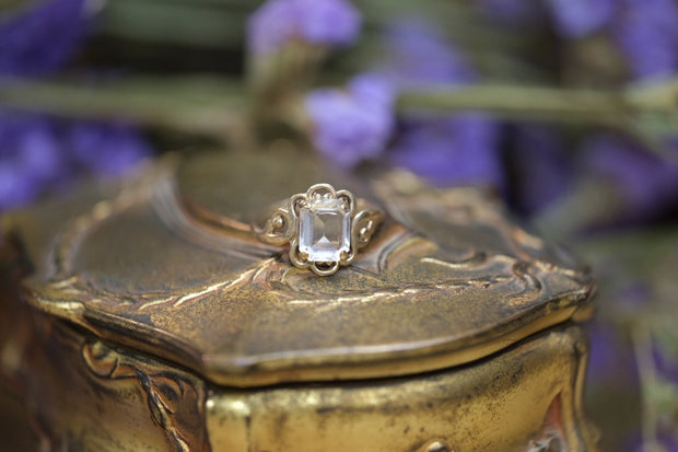 Edwardian Emerald Cut Ring