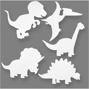 Dinosaur card cut out shapes